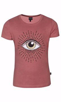 T-shirt med øjne og glimmer