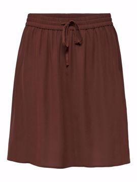 Nederdel kort med elastik og bindebånd
