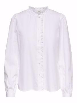 Skjorte med flæsekrave
