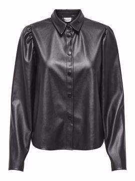 Fake læderskjorte med knapper
