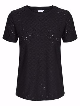 T-shirt med hulmønster sort