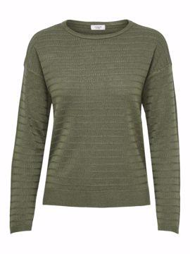 Pullover tynd strik army grøn