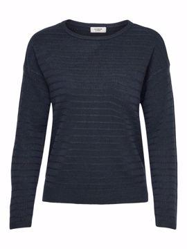 Pullover tynd strik navy