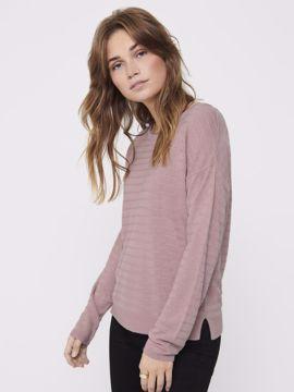 Pullover tynd strik rose