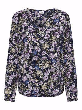 Bluse Piper med blomster lilla
