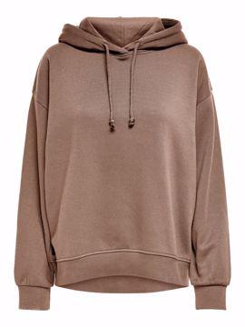 Sweat hoodie warm taupe