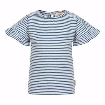 T-shirt stribet med søde ærmer