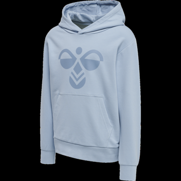 Hoodie med logo lyseblå
