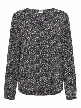 Bluse Piper med blomster yellow