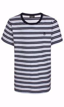T-shirt stribet hvid/navy