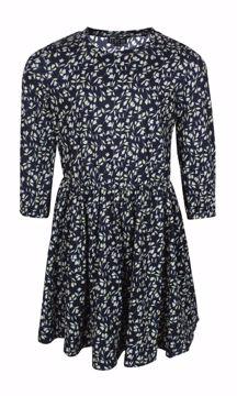 Kjole med blomster navy/grøn