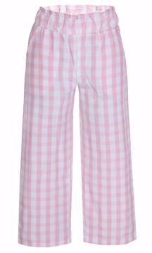 Bukser ternet hvid/lyserød