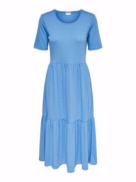 Kjole med kort ærme lys blå