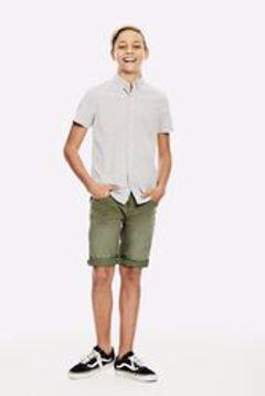 Skjorte kort ærme dark grey