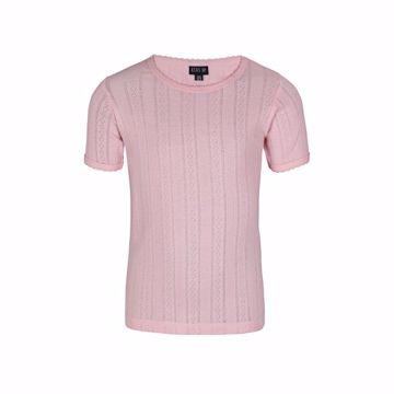 T-shirt med hulmønster lyserød
