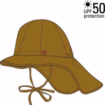Sommerhat long neck golden brown UV+50