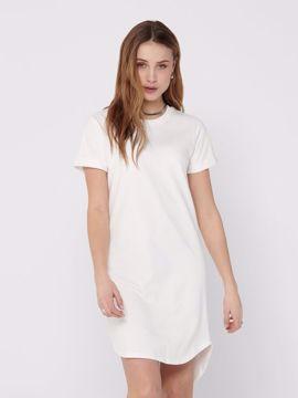Kjole sweat kort ærme hvid