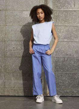 Bukser stribet blå