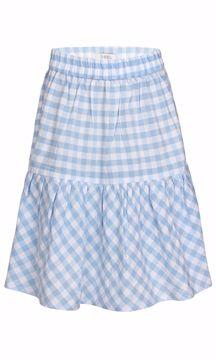 Nederdel ternet lyseblå