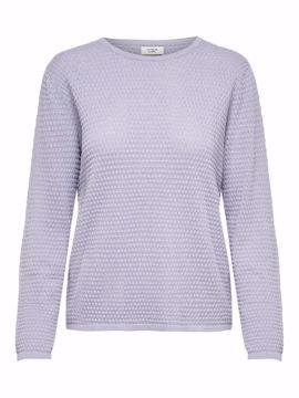 Tynd strik pullover lavendel