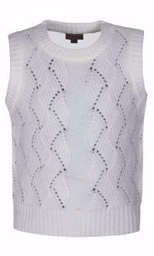 Vest strik off white