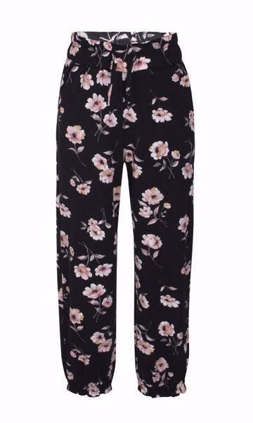 Bukser sort med blomster