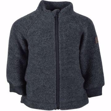 Jakke Merino uld grå