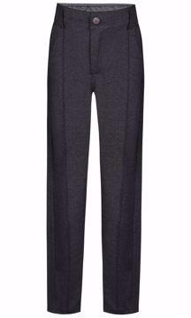 Bukser gråmeleret med stribe foran