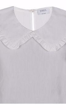 Skjorte med krave hvid