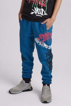 Grafitti Pants blue