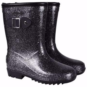 Thermo gummistøvler med glimmer
