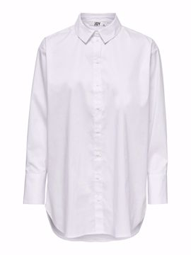 Skjorte lang hvid