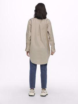 Skjorte lang simply taupe